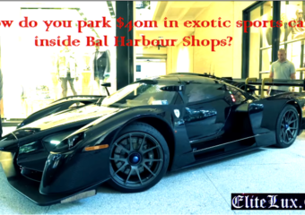 exotic sports cars parking in shop