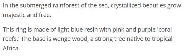 Coral Reef Description