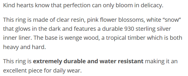 Silver Ethereal Blossom DESCRIPTION