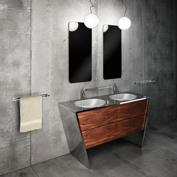 metal bathroom