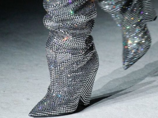 YSL Boots Fall Collection   Rihanna's Swarovsky Crystal Encrusted Boots You Need To See 2018
