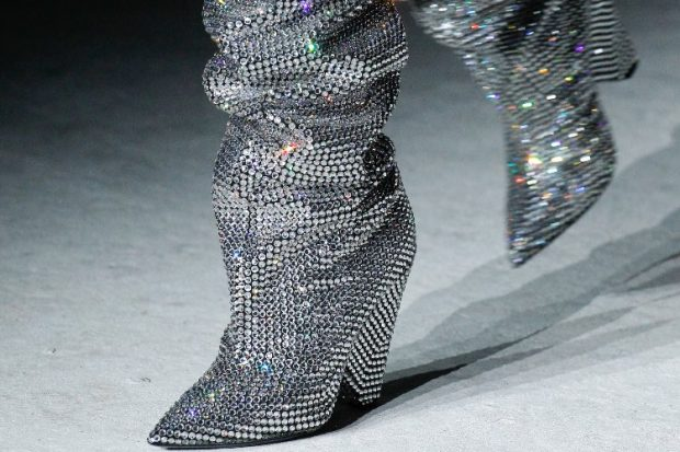 YSL Boots Fall Collection | Rihanna's Swarovsky Crystal Encrusted Boots You Need To See 2018