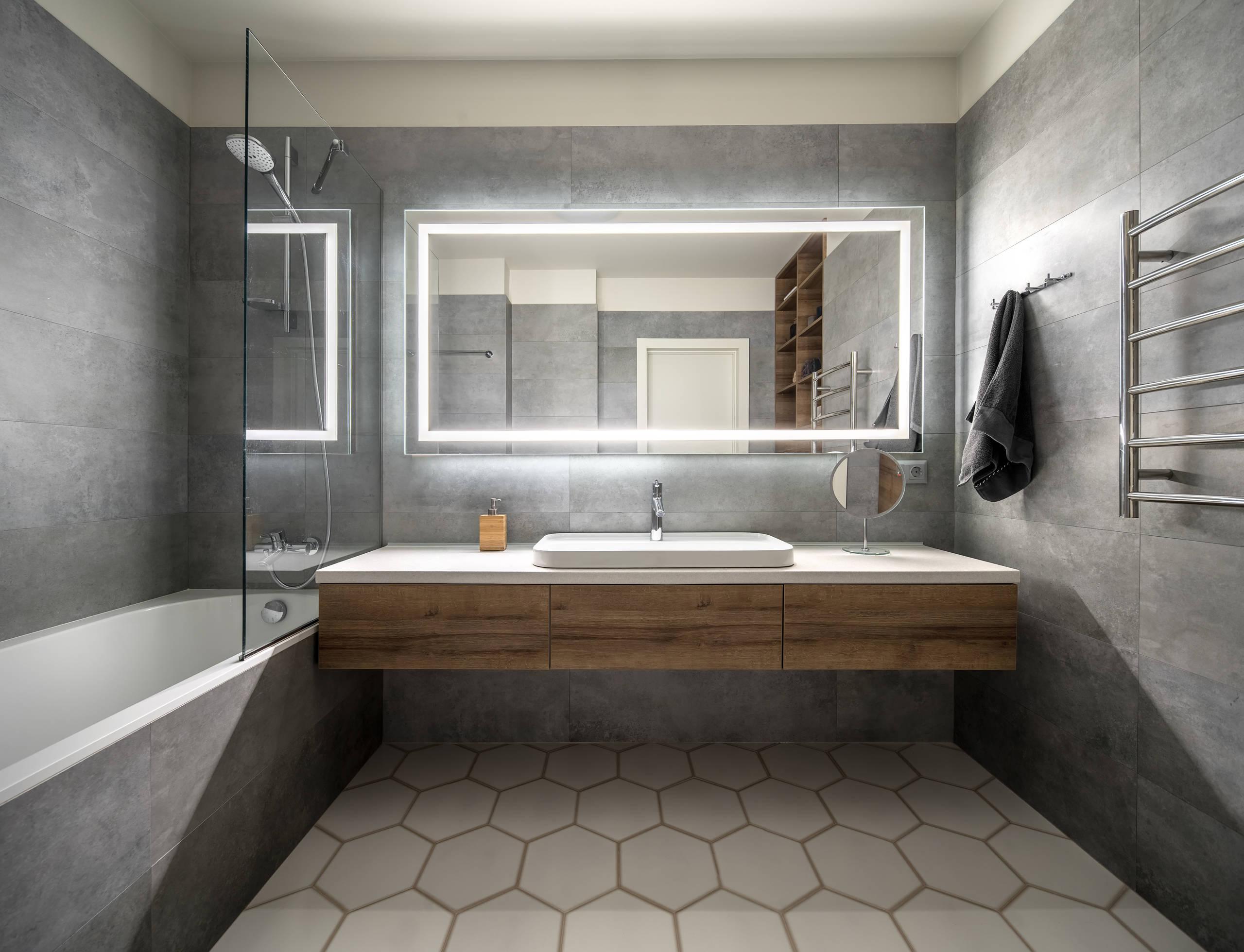 Beautiful Luxury Bathroom Contrast