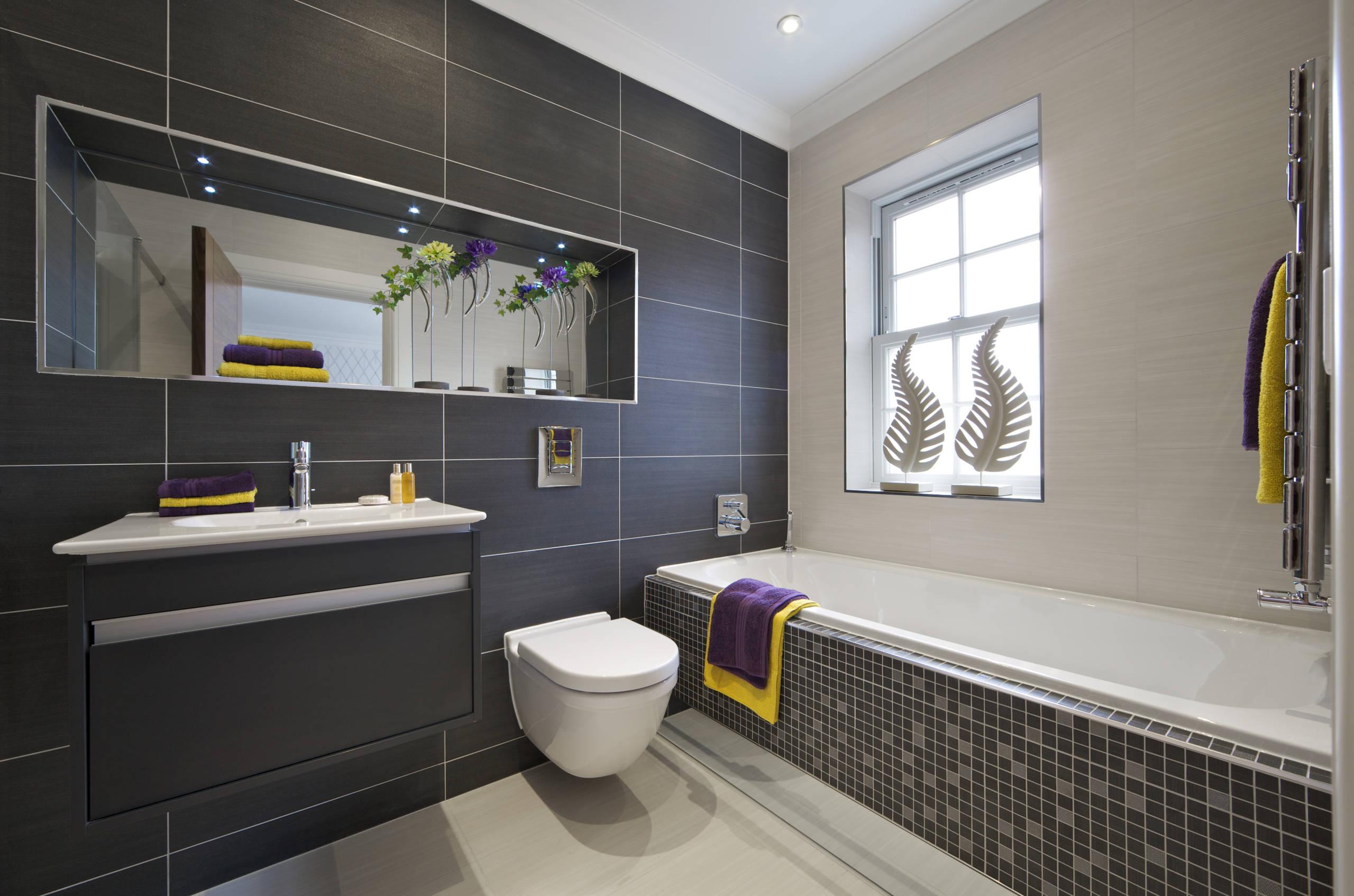 Luxury Bathroom Contrast - contrast tile