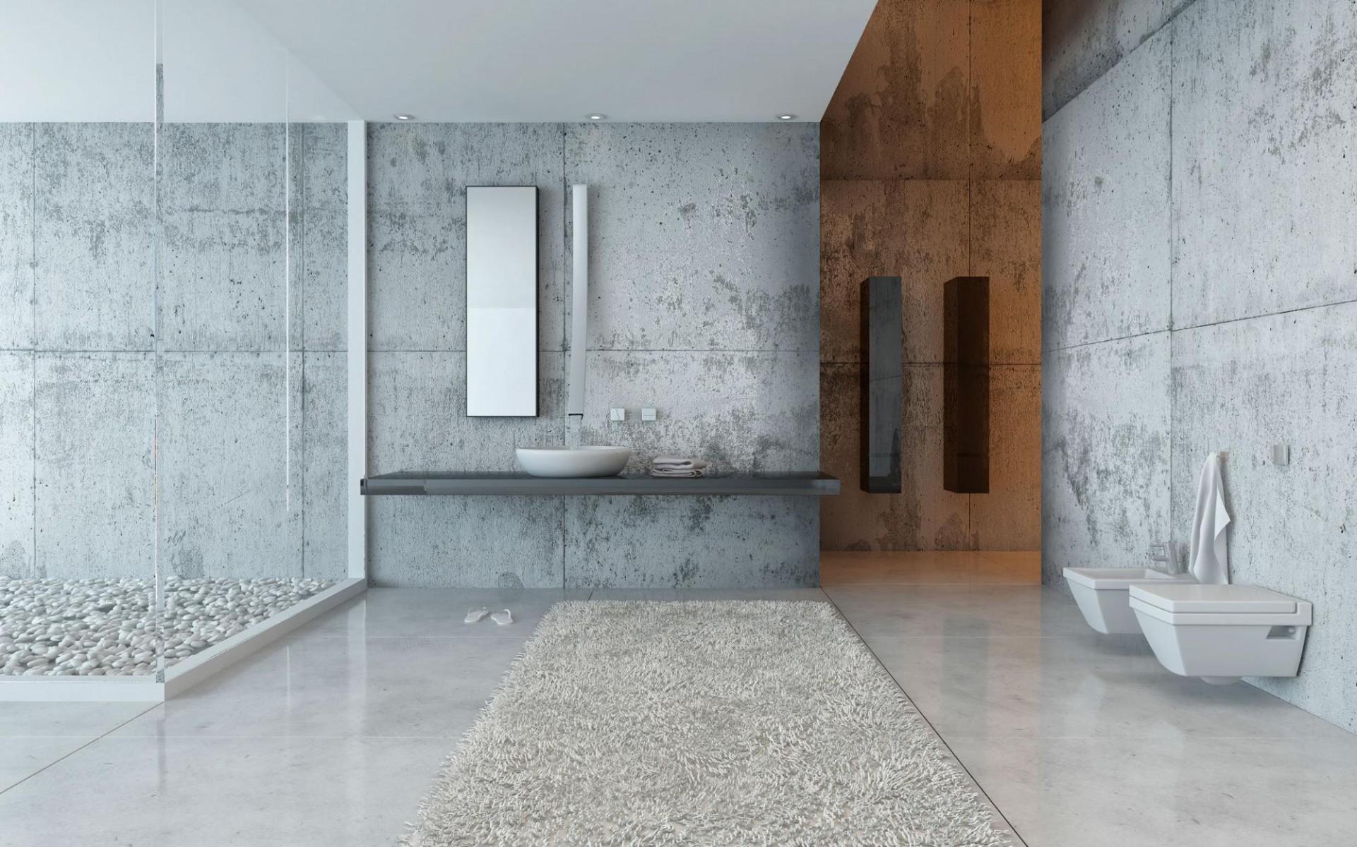 Luxury Bathroom Contrast design idea