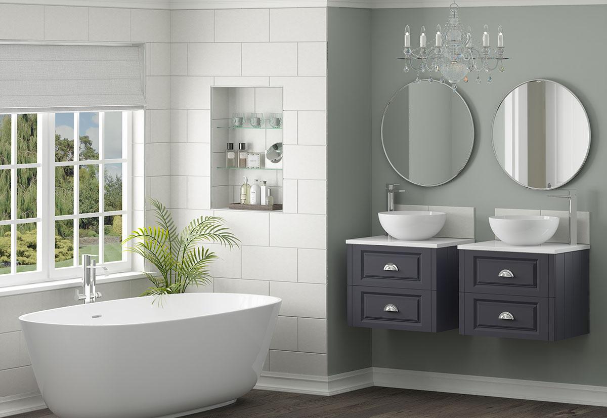 contrast bathroom idea