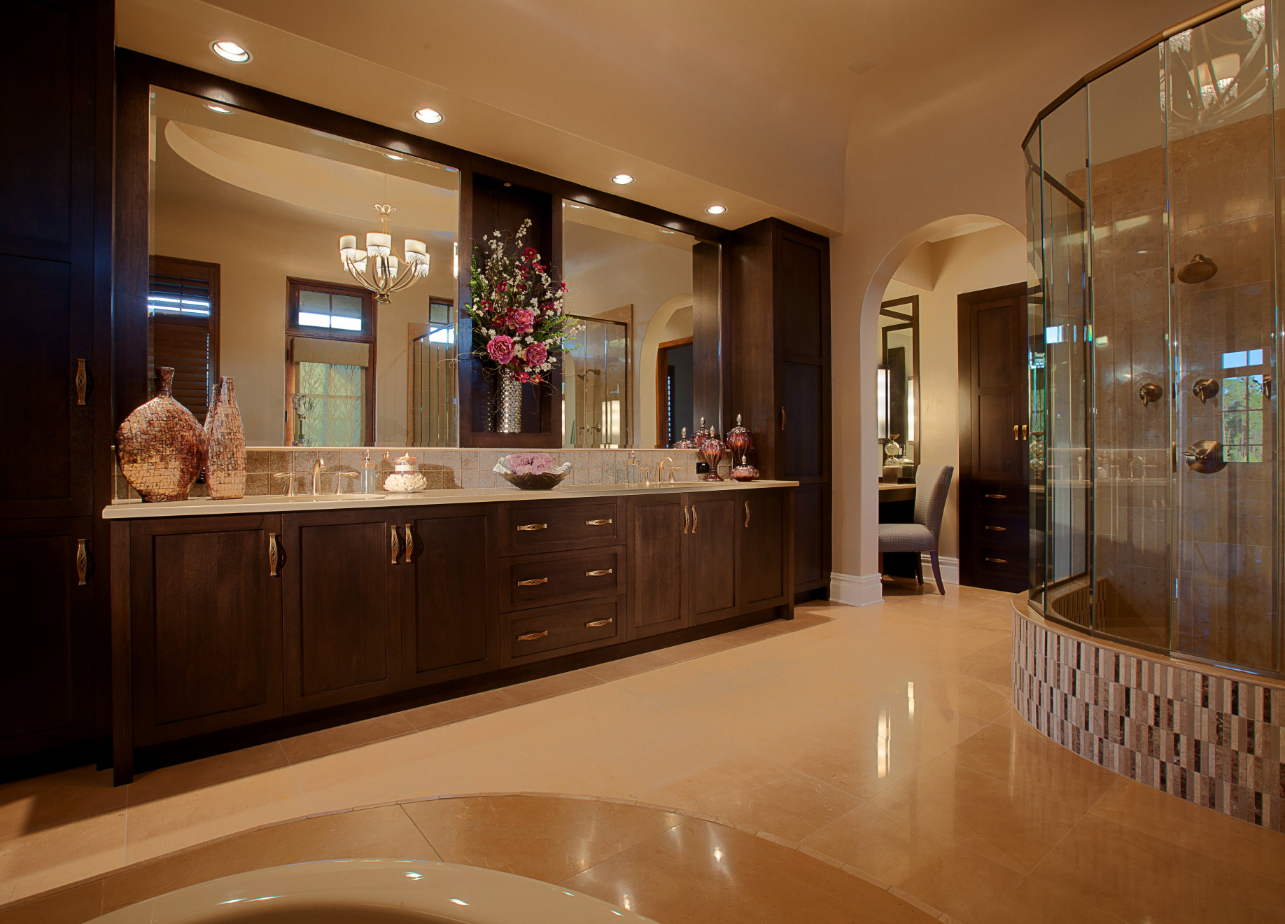matching faucets with bathroom - nice design
