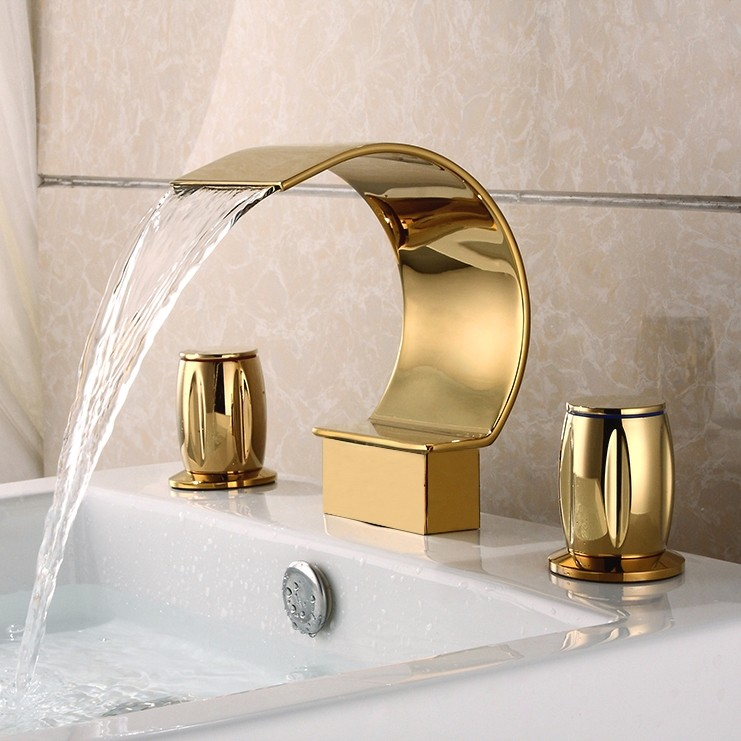 unique bathroom faucets - waterfall